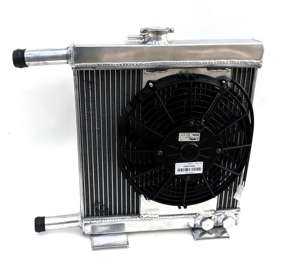 Alloy radiator, with SPAL brand fan - Fulvia all