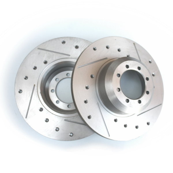Brake discs, sport, front, perforated and grooved - Fulvia 2nd series