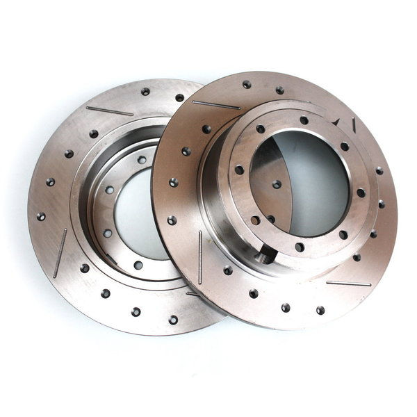 Brake discs, sport, rear, perforated and grooved, Fulvia - 2nd series